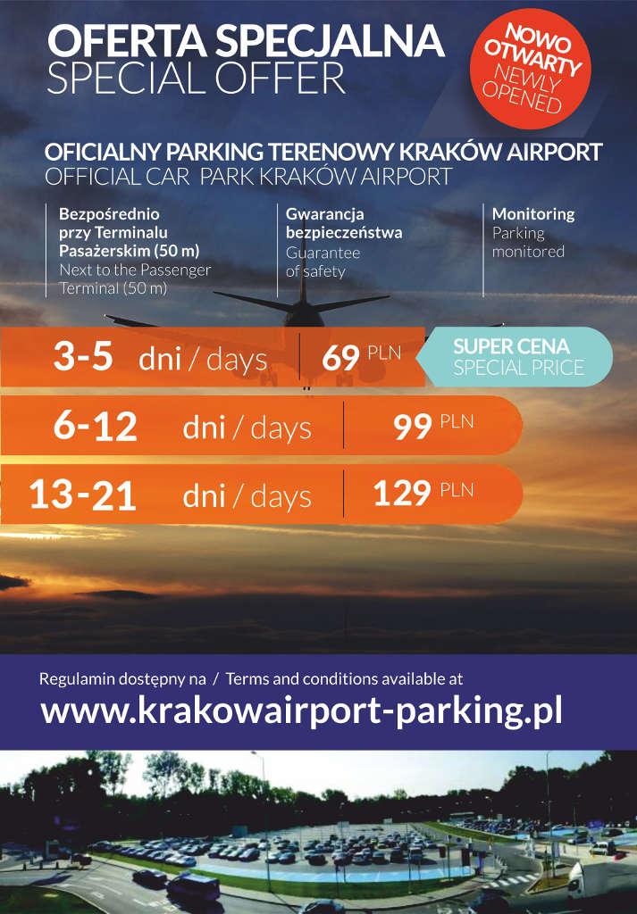 Parking lotnisko Balice